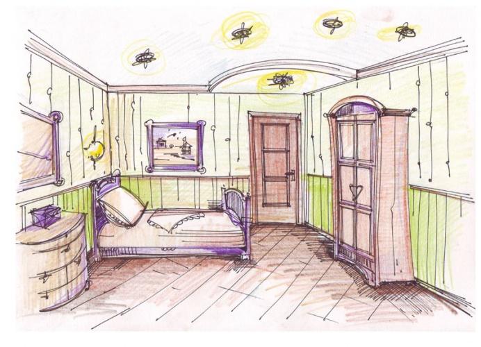 рисунок детской комнаты идеи создания индивидуального интерьера
