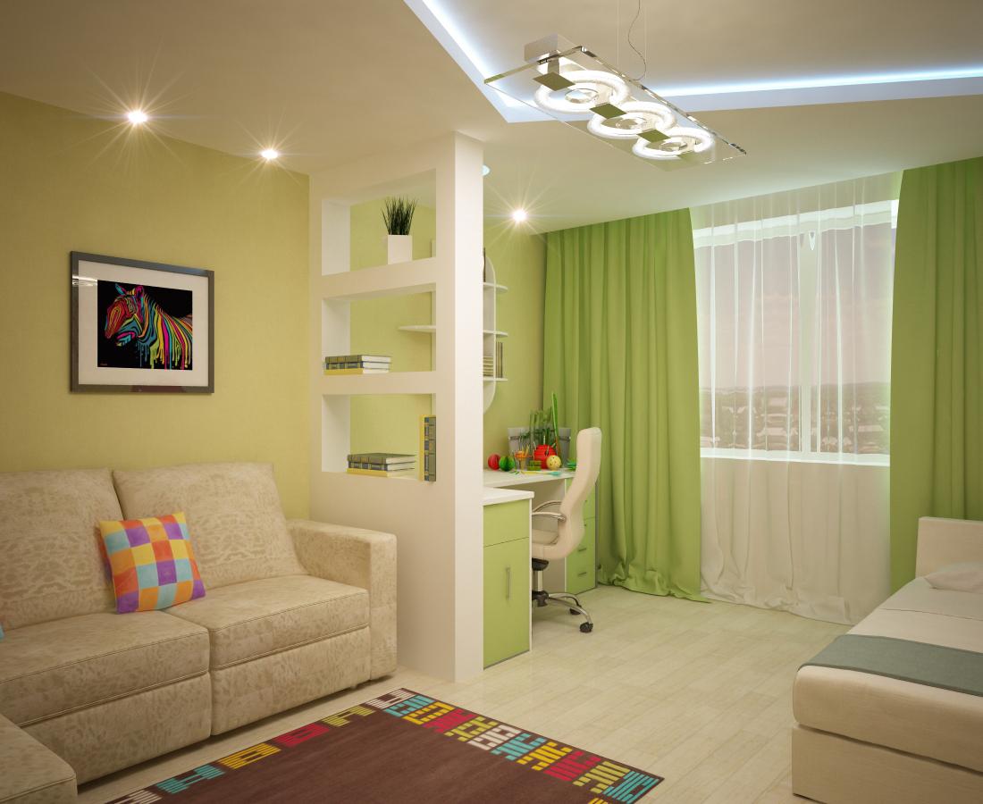 гостиная-детская в одной комнате фото