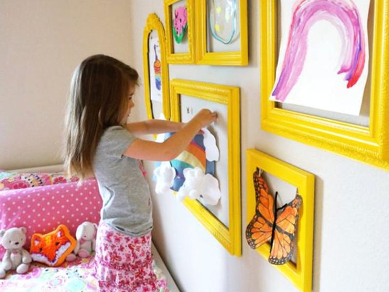 Самостоятельное украшение детской комнаты