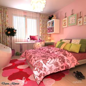 Обустройство маленькой комнаты для девочки