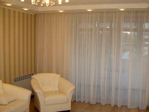 Современный стиль штор для зала