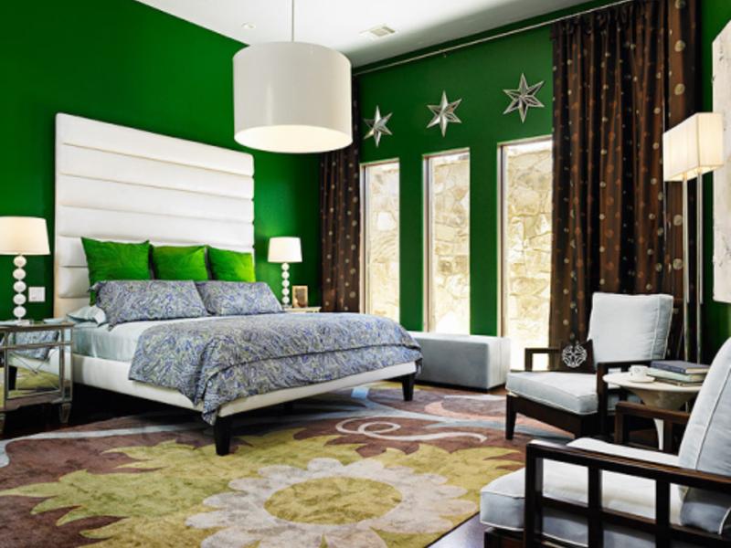 дизайн спальни в зеленых коричнево белых тонах фото свою жизнь